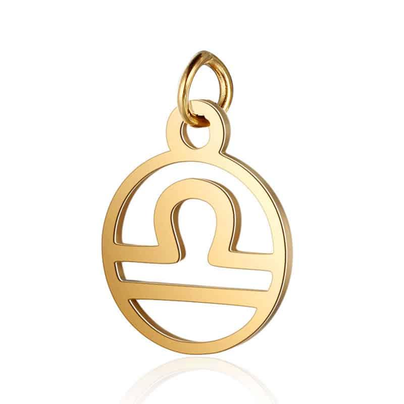pendentif charms signe astrologique balance