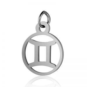 pendentif signe astrologique gémeaux