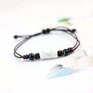 bracelet signe astrologique poisson blanc