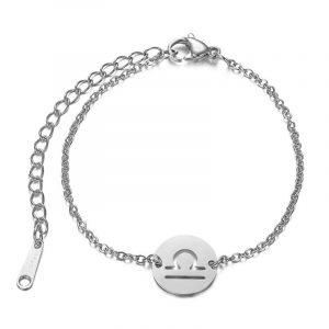 bracelet signe astrologique balance argent