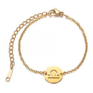bracelet signe astrologique balance Or