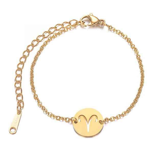 bracelet signe astrologique bélier Or