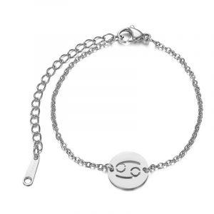 bracelet cancer argent