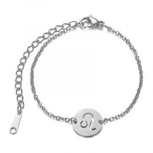bracelet signe astrologique lion argent