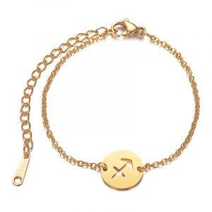 bracelet signe astrologique sagittaire or