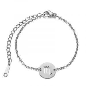 bracelet signe astrologique Scorpion argent
