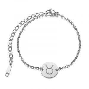 bracelet signe astrologique taureau argent