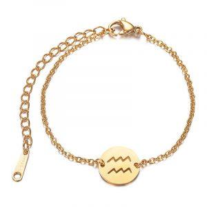 bracelet signe astrologique verseau or