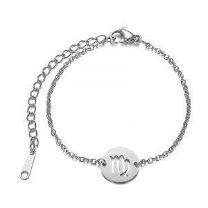 bracelet signe astrologique vierge argent
