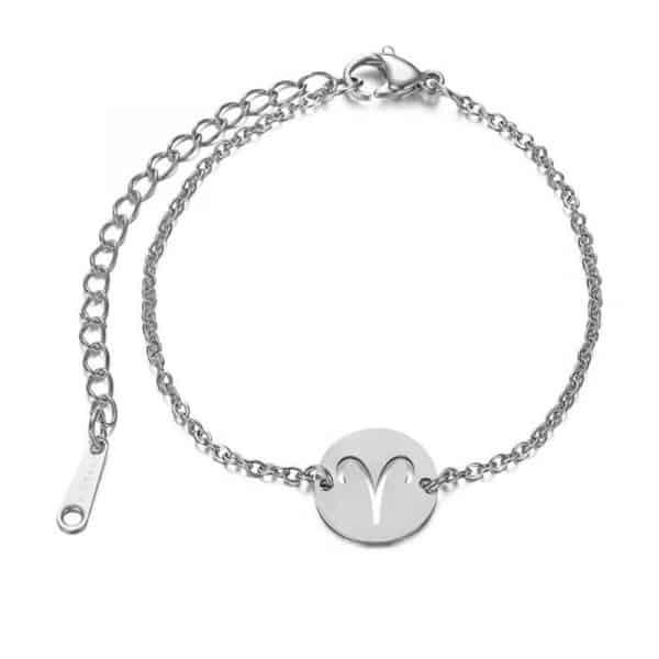bracelet signe astrologique bélier argent