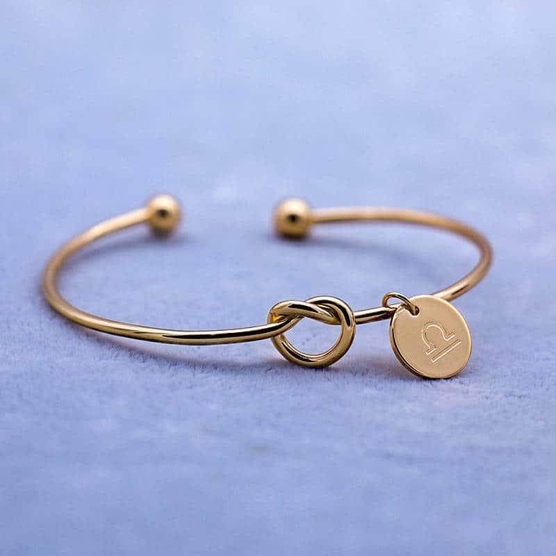 bracelet zodiaque balance or femme