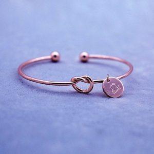 bracelet zodiaque balance rose gold femme