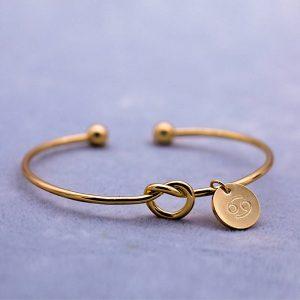 bracelet zodiaque cancer or femme