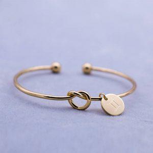 bracelet zodiaque gémeaux or femme