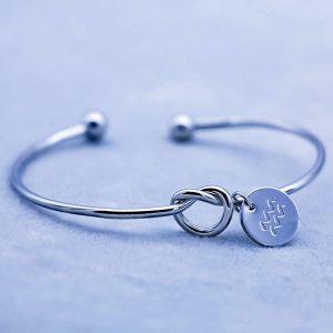 bracelet zodiaque verseau argent femme