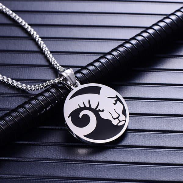 Collier pendentif signe astrologique bélier homme argent