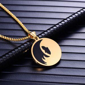 Collier pendentif signe astrologique vierge homme or