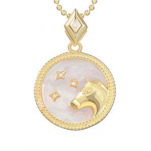 collier signe astro taureau femme