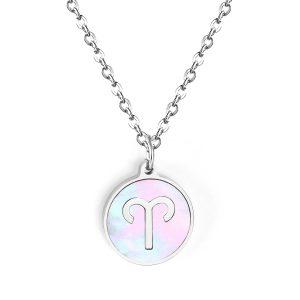 collier signe astrologique Bélier argent femme