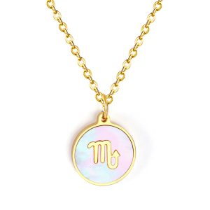 collier signe astrologique or scorpion pour femme