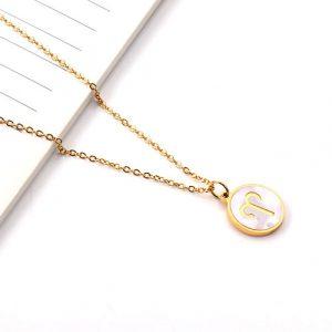 collier signe astrologique belier or femme