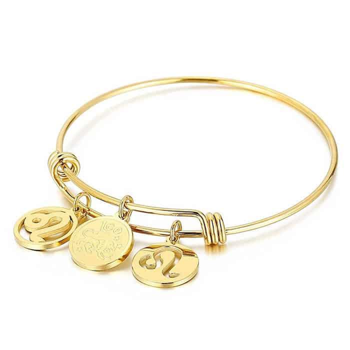 bracelet lion signe astrologique