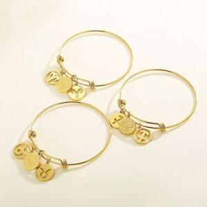 bracelet sagittaire belier taureau signe astrologique or