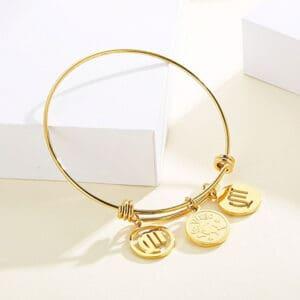 bracelet vierge signe astrologique or