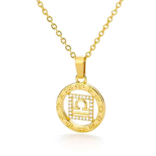 collier astrologie or balance