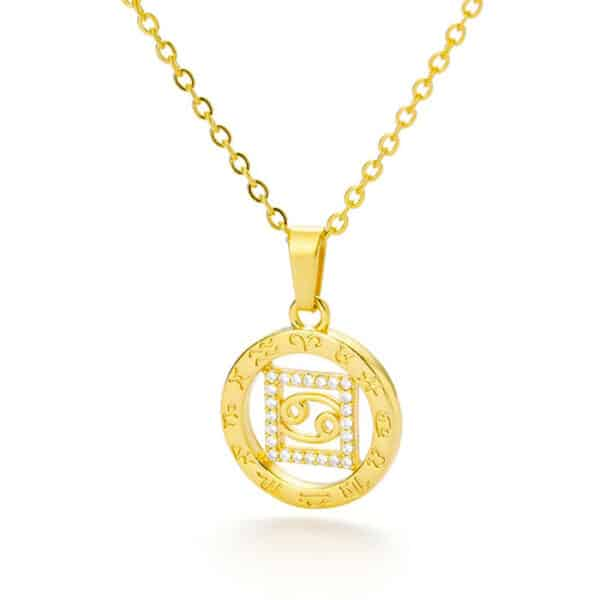 collier astrologie or cancer