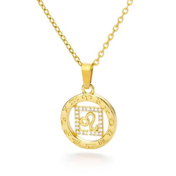 collier astrologie or lion