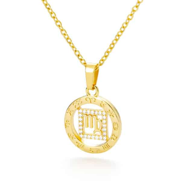 collier astrologie or vierge