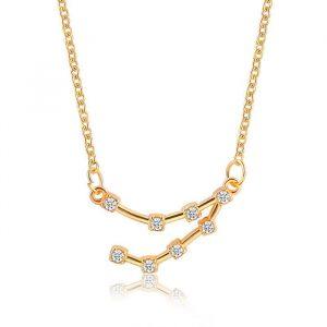 collier constellation capricorne or