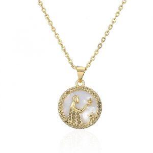collier femme signe astrologique vierge
