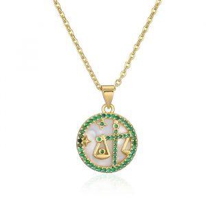 collier femme signe astrologique balance