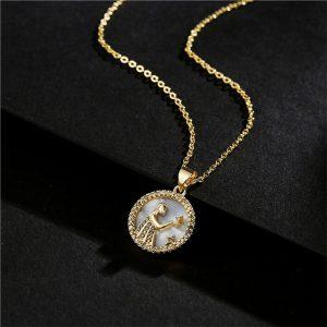 collier femme signe astrologique vierge or