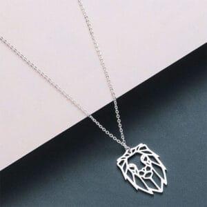 collier lion signe du zodiaque argent
