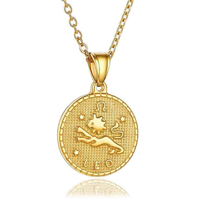 collier signe astrologique lion femme