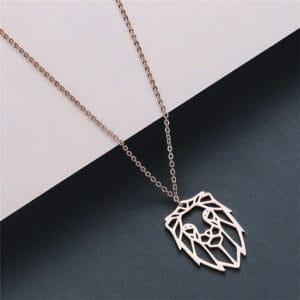 collier du zodiaque lion or rose