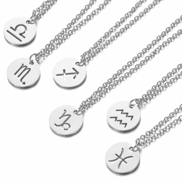 collier signe astrologique argent