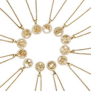 collier signe du zodiaque femme