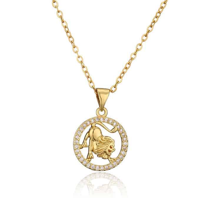 collier signe zodiaque lion