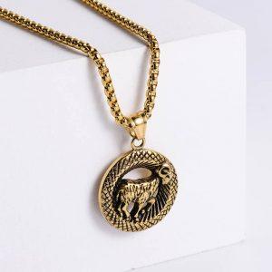 pendentif signe astrologique belier or