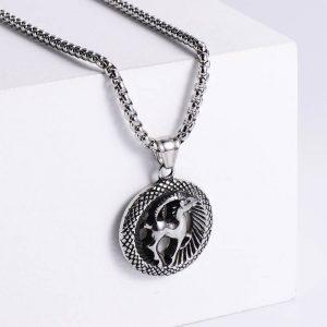 pendentif signe astrologique capricorne argent