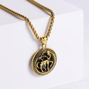 pendentif signe astrologique sagittaire or