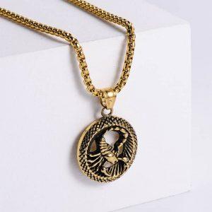 pendentif signe astrologique scorpion or