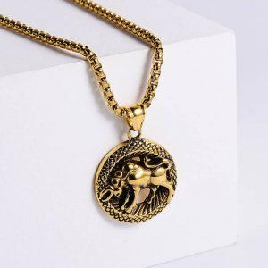pendentif signe astrologique taureau or
