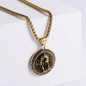 pendentif signe astrologique verseau or